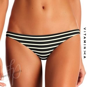 Vitamin A Swim Luciana Bikini Bottoms Marin Stripe